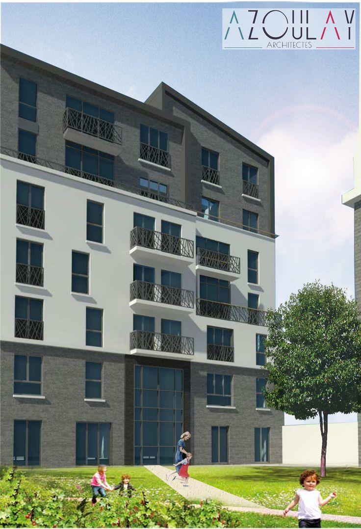 Construction d'un immeuble de logements à Courbevoie >> Azoulay Architectes