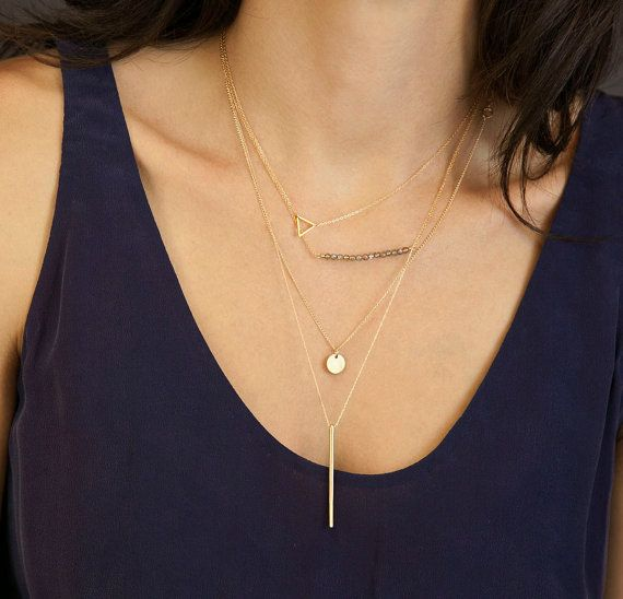 Delicate Layered Necklaces set of 4 //  Thin by LayeredAndLong, $97.00
