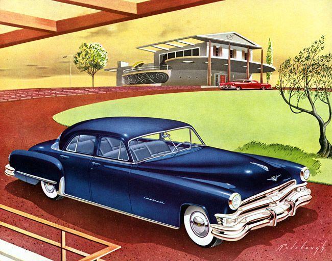 45 best chrysler corp car ads images on pinterest car classic car art vintage ads 1951 imperial by arthur radebaugh sciox Images
