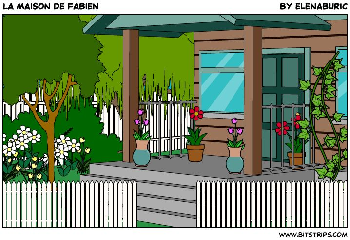 La maison de Fabien. Présentation multimédia (vocabulaire, pièces de la maison, adjectifs, descriptions) et exercices