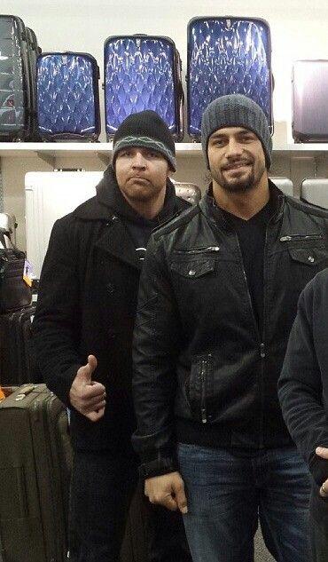 Jonathan Good and Joe Anoa'i as Dean Ambrose and Roman Reigns