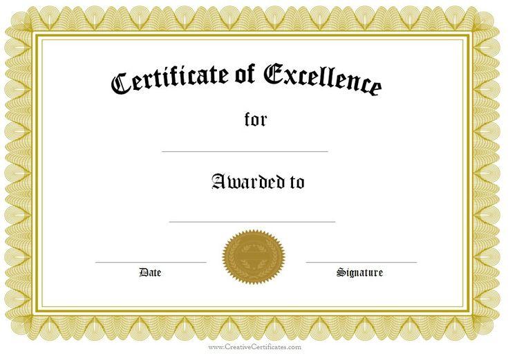 Template for award certificate certificate templates Certificate Templates #SampleResume #FreeAwardTemplate