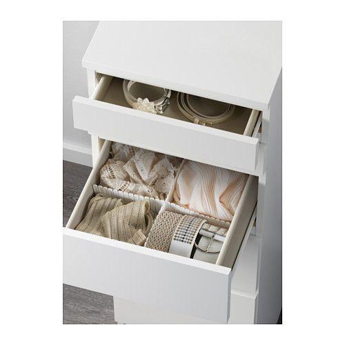 MALM Commode 6 tiroirs - blanc/miroir - IKEA
