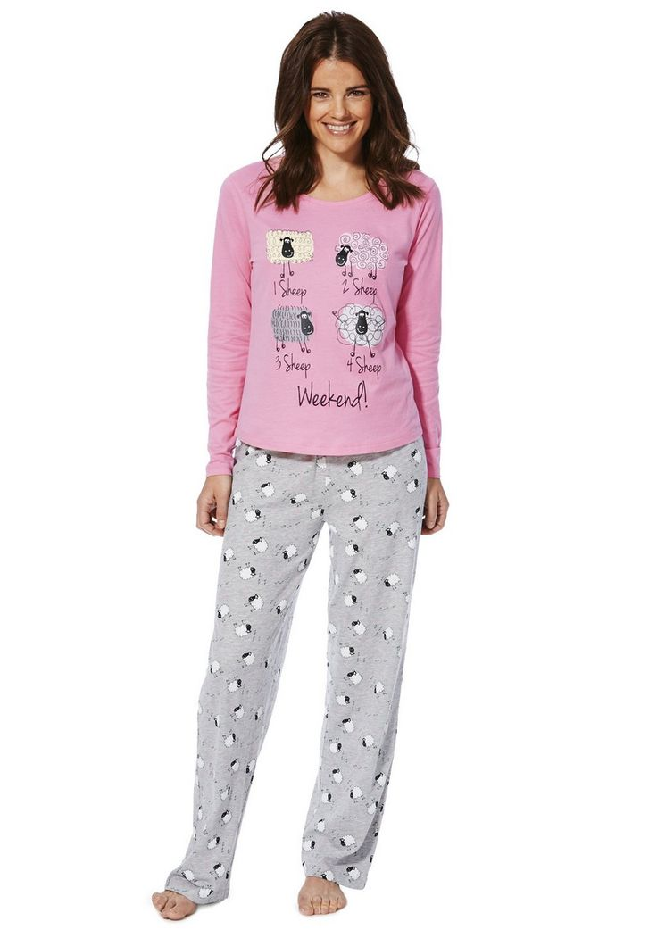 Clothing At Tesco F Amp F Sheep Print Pyjamas Gt Nightwear