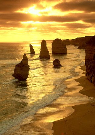 12 Apostles- Australia  I've been there.  It was amazing!