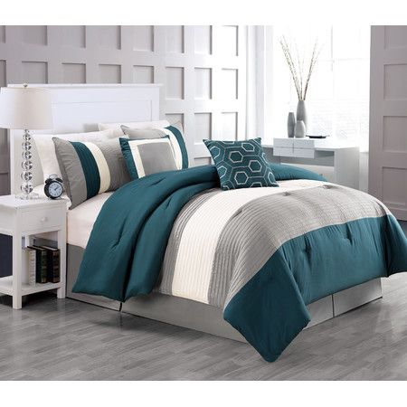 Miranda Comforter Set in Teal