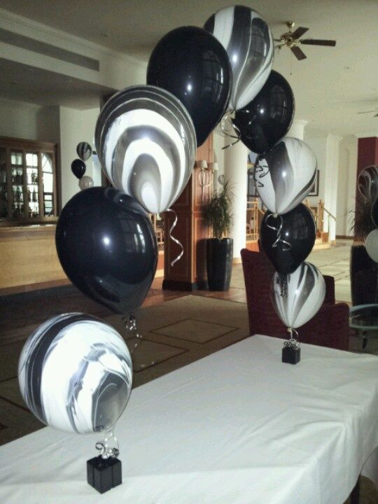 Red Black And White Balloon Arch Black Amp White Themed