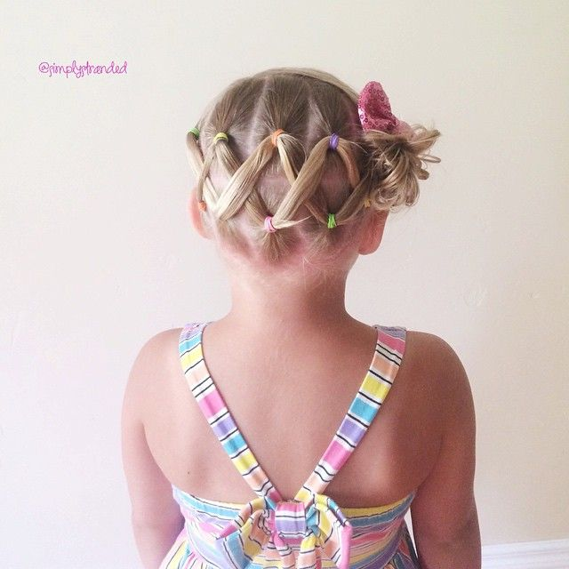 """""""I know I've posted this hairstyle a few months ago.  But this is one of our go to styles in the summer.  It stays in all day, and it's quick and easy!  zig zag ponies into a messy bun. """" Photo taken by @simplystranded on Instagram, pinned via the InstaPin iOS App! http://www.instapinapp.com (06/29/2015)"""