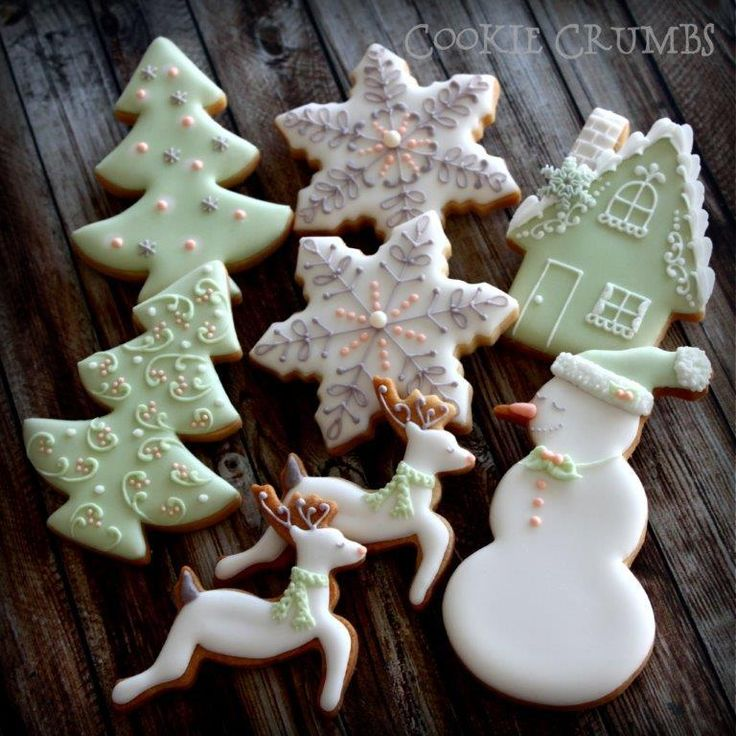pastel Christmas cookies | Cookie Connection