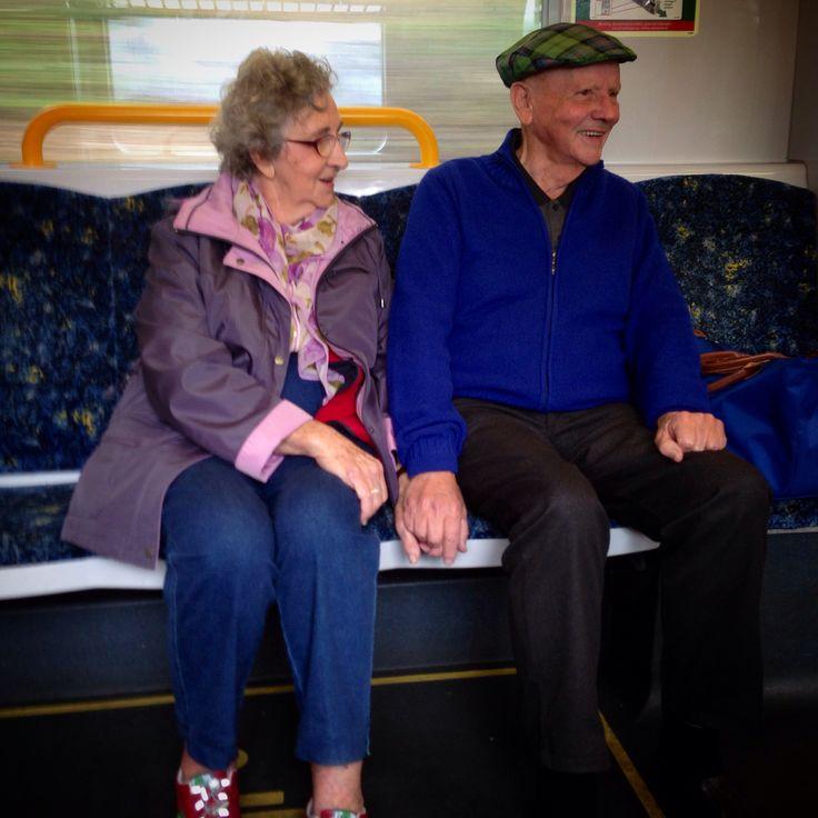 Meet this beautiful couple on the train. 58 years if marriage, 6 children, 16 grandchildren and great grandchildren.