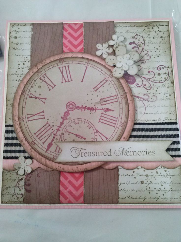 Girly steampunk card using Kaszazz products, made by Kathryn James.