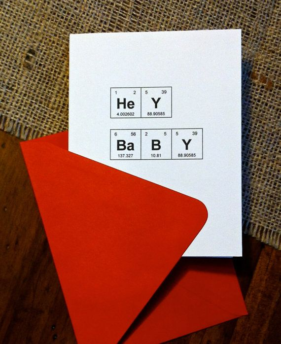 The 1033 best chemistry images on pinterest chemistry periodic items similar to periodic table of the elements hey baby geek pick up line card chemistry valentines day card nerd love card on etsy urtaz Choice Image