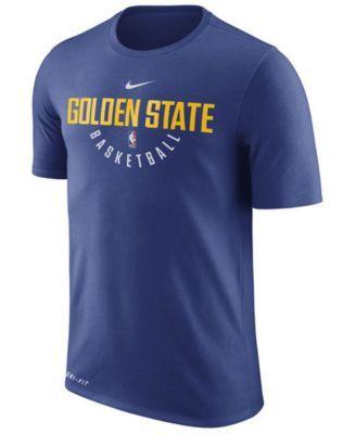 Nike Men's Golden State Warriors Dri-fit Cotton Practice T-Shirt - Blue XXL