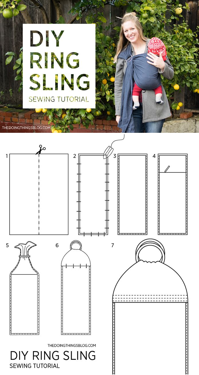 DIY Ring Sling | The Doing Things Blog | Free printable PDF instructions!