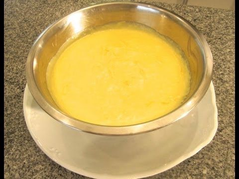 Crema pastelera.