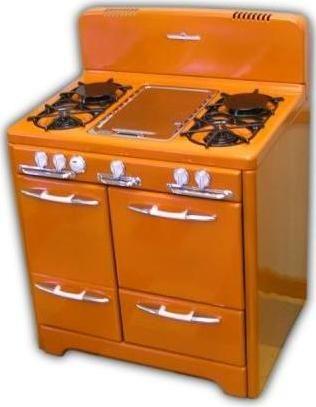 goes with the big red fridge orange stove