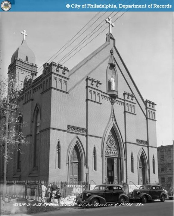 St Paul's Catholic Church 900 block of Christian St. My great, great grandparents were married here in July 1871
