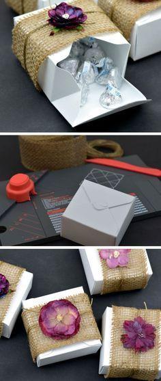 Burlap & Floral Rustic DIY Gift Boxes | Click Pic for 25 DIY Wedding Decorations on a Budget | DIY Rustic Wedding Decor Ideas on a Budget budget halloween diy #diy #halloween
