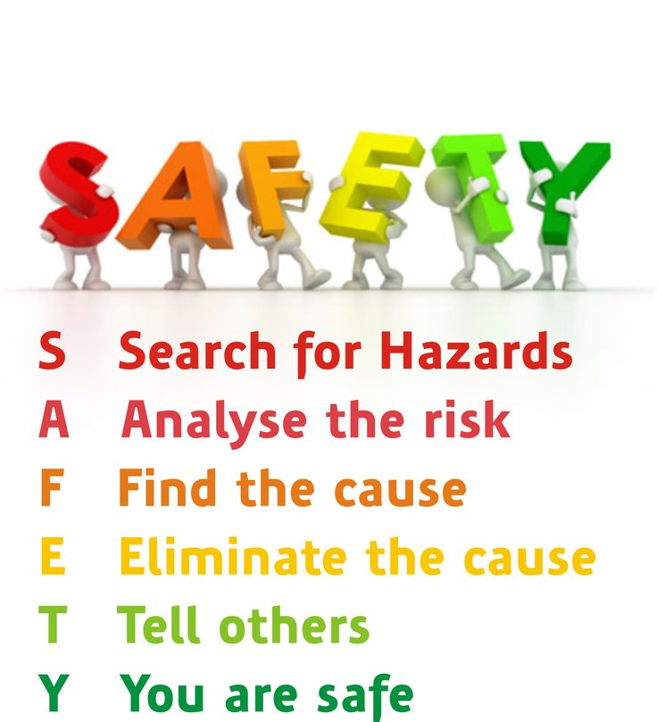 Safety: Search, Analyse, Find, Eliminate, Tell, You are safe! :-)