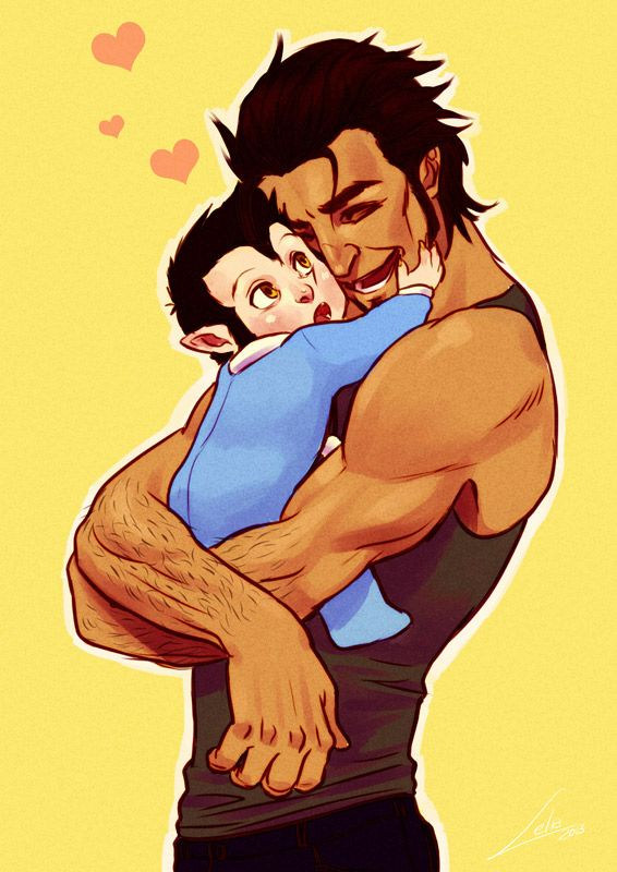 Daddy's puppy. Portrait of the Hale's faily from the tv series Teen Wolf.Following this picture of Derek Hale as a baby werepup