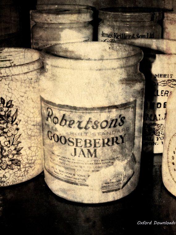 Jam Jar Vintage Print Digital Download by OxfordDownloads on Etsy