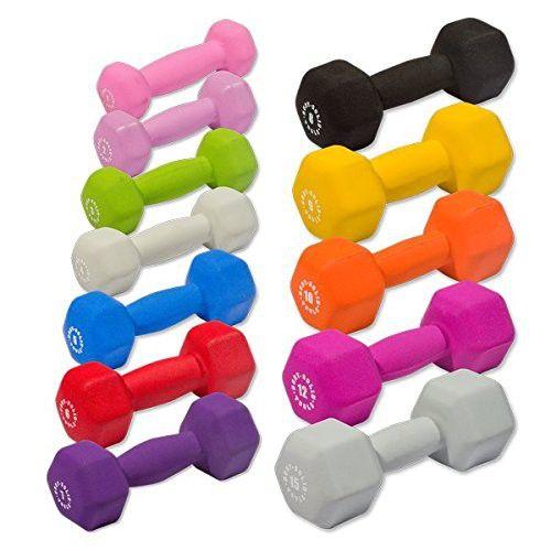 Body-Solid Tools 1-10Lb Neoprene Dumbbell Set