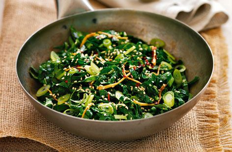 asian wilted greens