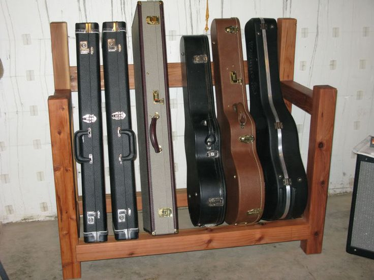 1000 images about guitar case storage ideas on pinterest for Homemade rack case