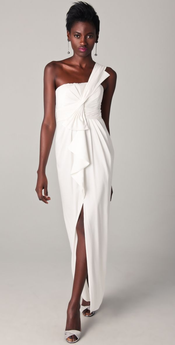 Barbara One Shoulder Gown by StephyPaf