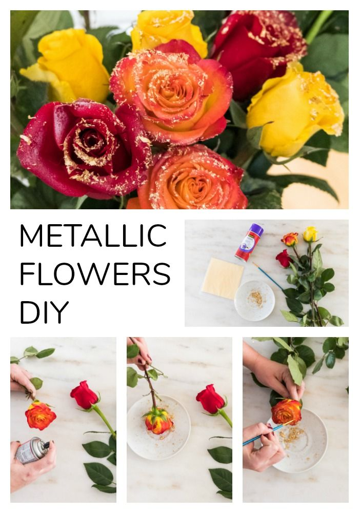 This #DIY for metallic florals is SO EASY. #wedding #diywedding #crafting