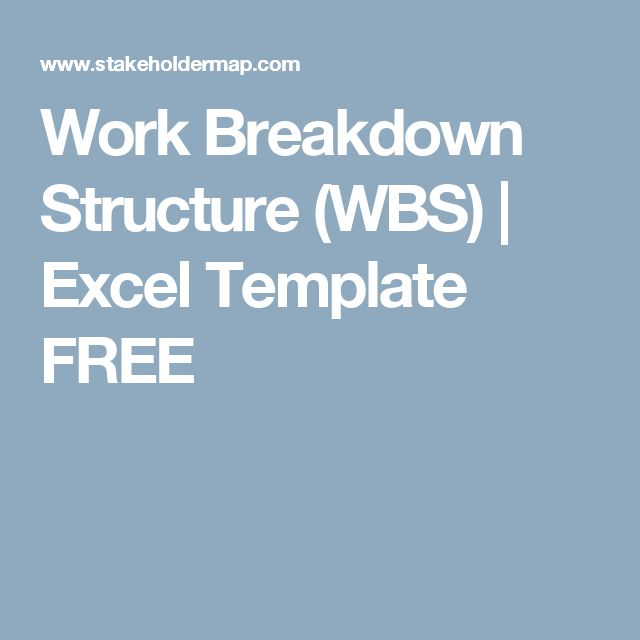 Work Breakdown Structure (WBS) Excel Template FREE Project - work breakdown structure template