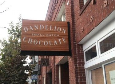 ***Dandelion Chocolate Factory - 740 Valencia St, San Francisco, CA. Mon-Thu  Sun 10am-9pm, Fri-Sat 10am-10pm.  Makes 3 single-origin, 70% cacao bars with only cocoa beans and cane sugar, and has a small cafe that offers mochas and hot and cold drinking chocolate (can be vegan!) Offers free 30 minute tours for people over 5. They make chocolate Mon-Sat, until about 6pm, with a break for lunch. Every Wed from 5–6pm, they host an informal meet-the-maker chat and tasting in the cafe.