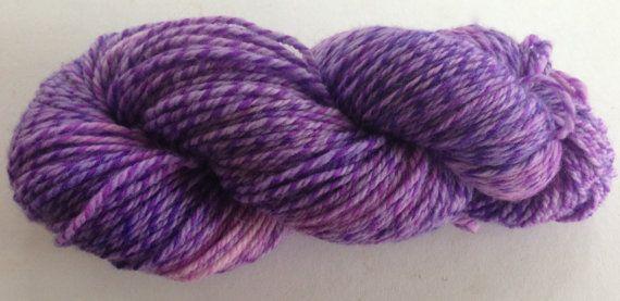 Lavender (Zorya- Barber-poled merino DK) purple