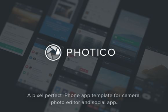 Photico – iPhone App Template by Pixel Perf. Goodies on Creative Market