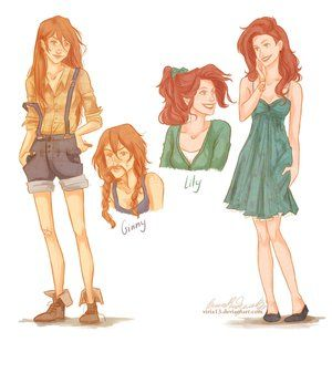 Ginny Weasley and Lily Evans
