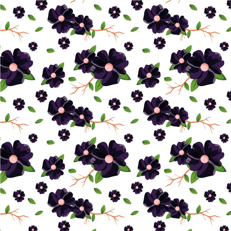 coloured floral pattern vector