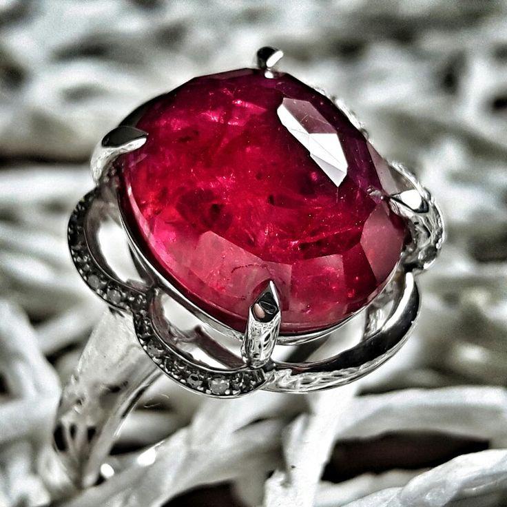 Sexy silver ruby & diamonds.