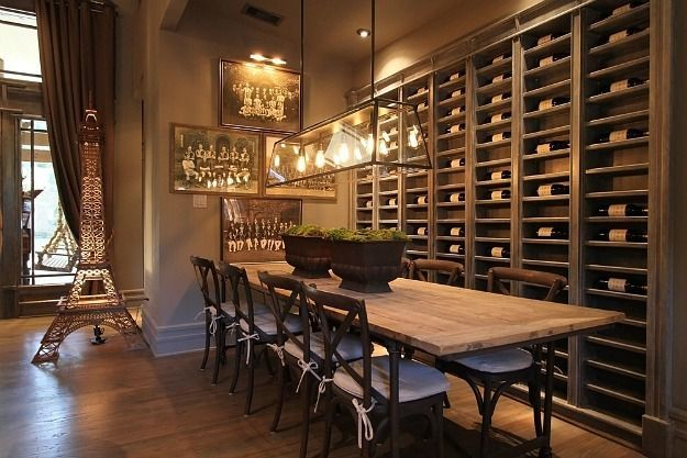 I totally want a wine wall in my future home   Remodeled Craftsman Houston Lymbar (9)