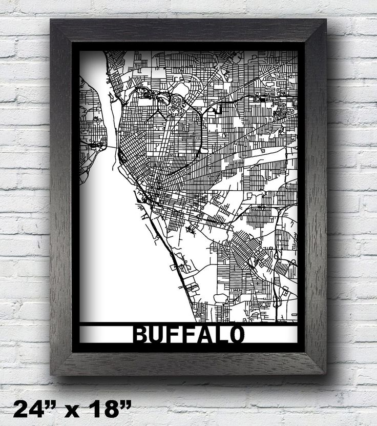 Buffalo, New York Laser Cut Map, 3D Street Map, 24x18 Map, 18x14 Map, 14x11 Map, Map Art, City Map, Buffalo Map, Custom Map. Our laser cut 3D street map is an exquisite and high-detail art of your favorite city/county/state/country! The super black mat mounting board is laser cut all the way through to create the 3D effect. Backed by a white paper background, it creates a stunning art that will beautify any walls. The map is enclosed with a high quality matte black frame. it comes with an...
