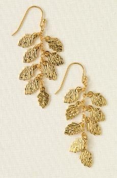 Pretty  gold leaf earrings    # Pin++ for Pinterest #