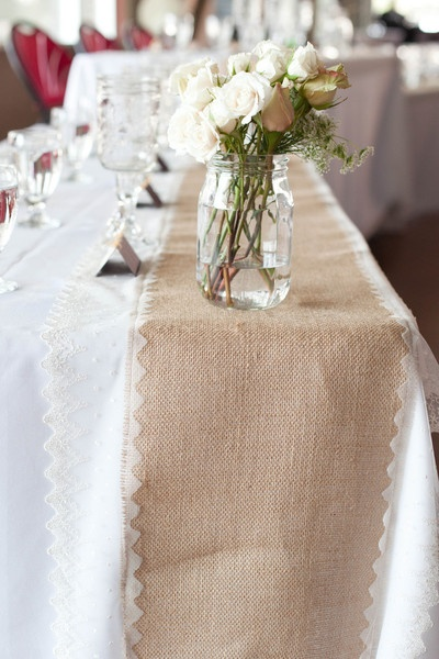 burlap and lace wedding cakes | Burlap and Lace Table Runners | Marketplace | 100 Layer Cake