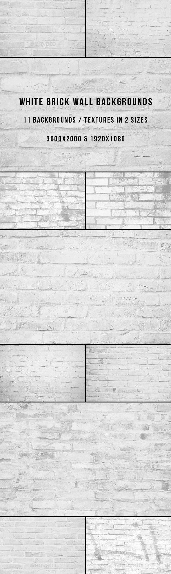 White Brick Wall Backgrounds - Miscellaneous #Backgrounds