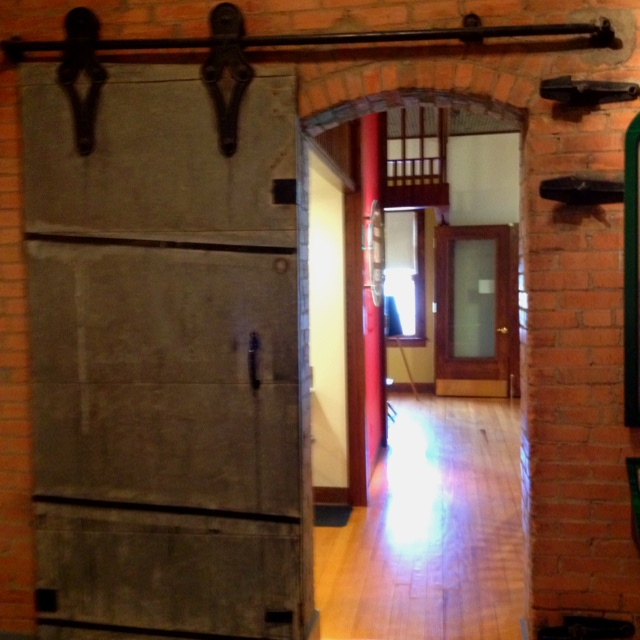 Old train station fire door great detail for entrance to for Idea fire door