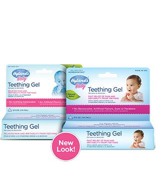 Hyland's Baby Teething Gel - I hear this works great!