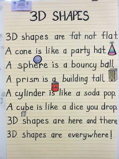 Cute 3-D shape poem