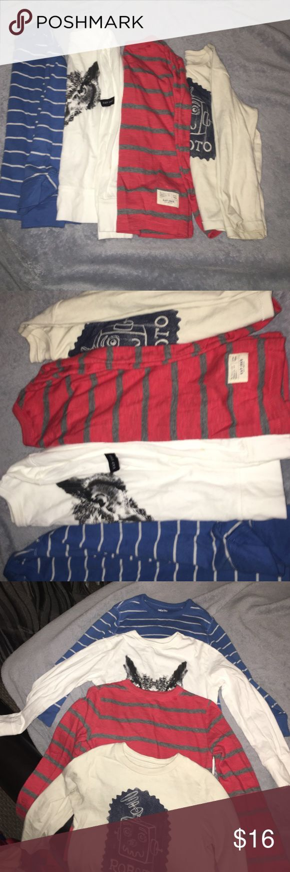 Gap/Long tee /toddler like new🌟🌟🌟🌟 Gap long sleeve tee shirts/great condition no stains !!🌟🌟🌟like new 4/5 toddler GAP Shirts & Tops Tees - Long Sleeve