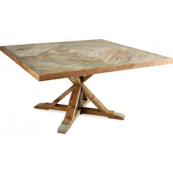 Pino massello di legno di pino Tavolo da pranzo DT-312100 X 100 X 75 CM | Arts of India – Italy