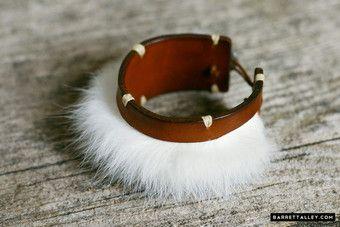 Rabbit fur bracelet 1