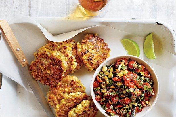 """""""Don't worry if the fritters         seem a little flimsy—they         hold together and flip         easily during cooking,""""         Bemis says."""