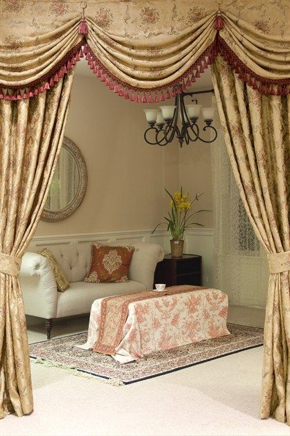 1000+ images about Antique Curtain on Pinterest | Bay window ...